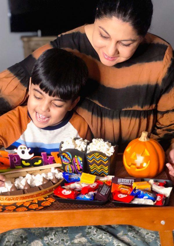 Halloween Movie Night with Hershey