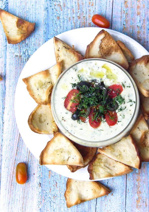 Pita Chips & Cheese Fondue Recipe